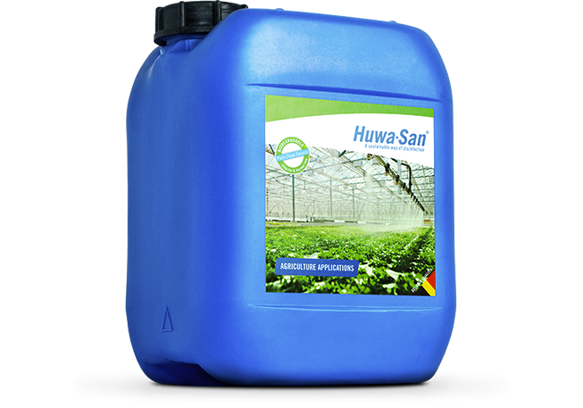 Huwa-San for biodegradable professional disinfection.